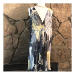 Simply Vera Wayercolor Print Sheer Dress, Medium